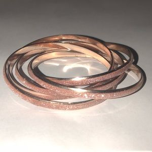 Gorgeous Rose Gold Glitter Intertwined Bracelets